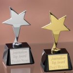 Small Stars with Glass Bases Patriotic Awards